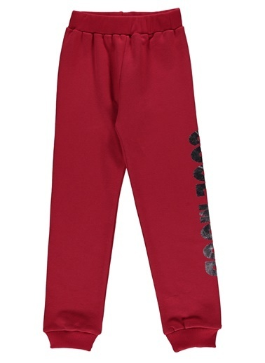 Morhipo Kids Sweatpantolon Baskılı Paca Ribanalı Kırmızı